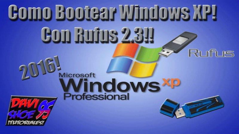 Instalar windows xp con rufus gratis