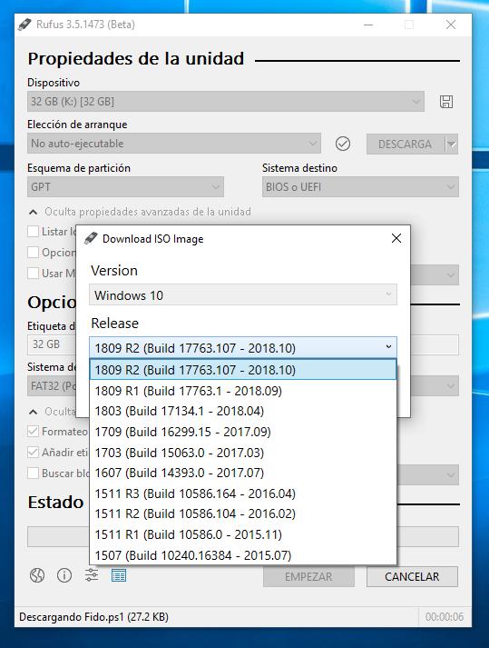 Descargar Rufus USB para Windows PC - unidad de arranque