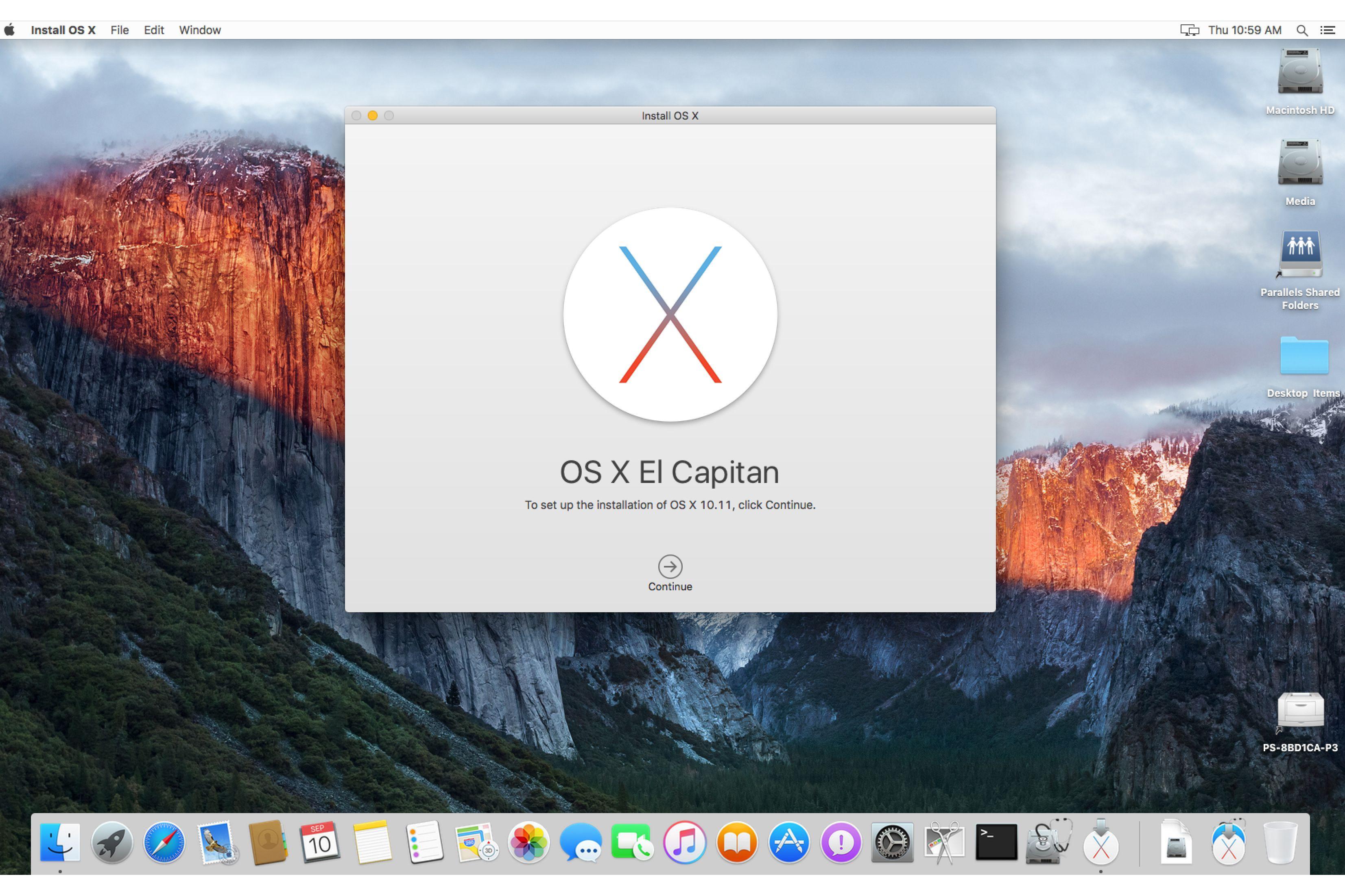 Descargar archivo dmg el capitan mac OS